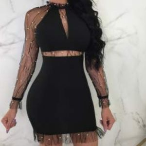 Dresses & Skirts - Mesh Black Dress